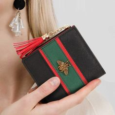 Christmas Santa Gift Train Coin Purse Buckle Vintage PU Pouch Kiss-lock Wallet for Women Girl