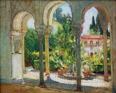 Garden Scene, Santa Barbara by Colin Campbell Cooper