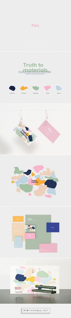 Truth to materials. on Behance. #branding visual identity, logo, colourful branding, contemporary branding