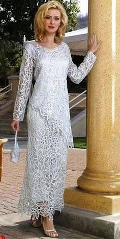 Nice Lace detail, covered and no waist. Good option for Mum maybe. Exquisite Soulmates Silk Dresses for Evening and Mother of the Bride / Groom Dresses at TheRoseDress Mother Of Bride Outfits, Mother Of Groom Dresses, Bride Groom Dress, Mothers Dresses, Mother Of The Bride, Mom Dress, Lace Dress, Elegant Dresses, Beautiful Dresses
