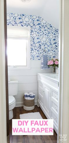 Wallpaper DIY. How to stencil an allover pattern on walls using a Royal Designs Stencil to create the look of wallpaper