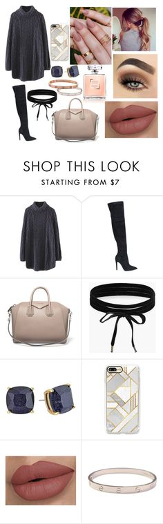 """""""So cozy: winter boots"""" by shayla903 ❤ liked on Polyvore featuring WithChic, Kendall + Kylie, Givenchy, Boohoo, Kate Spade, Casetify, Cartier and winterboots"""
