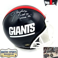 Lawrence Taylor AutographedSigned New York Giants Throwback Authentic Helmet with Last to Wear 56 Inscription  LE 5656 *** To view further for this item, visit the image link.