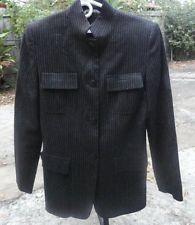 $49.95 OBO Women's Max Mara Wool Blend Pinstripe Button Down Four Pocket Blazer Size: 4 Free Shipping