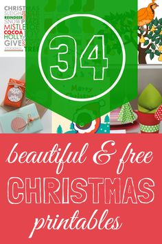 A Thrifty Mrs | A fun money saving blog: 34 Free Christmas Printables