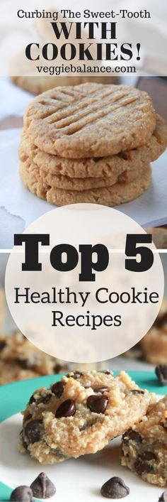 Best Healthy Cookie Recipes | Curbing the sweet-tooth with cookies! Low-Sugar, Paleo, Gluten-Free, Low-Fat to boot!