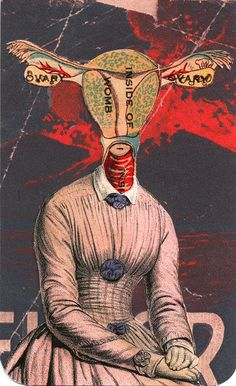 Madame Ovary collage, Richard Russell, 2008