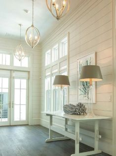 Bright and simple cottage entryway.  #entryways #foyers homechanneltv.com