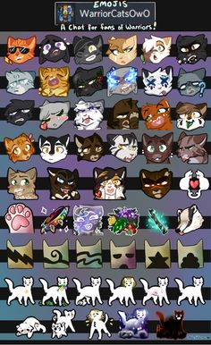 Come join and talk about Warrior Cats with others!: discordapp.com/invite/BYEKxPm A handful of little emojis for the Warrior Cat discord for everyone in chat to use! Ft. Cool Firestar, Anxious...
