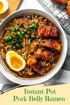 This Quick Instant Pot Pork Belly Ramen for Two is so easy and delicious you will want to make it again and again! Packed with so much flavor, you will think you are eating restaurant ramen, but in the comfort of your own home! Instant Pot Pressure Cooker, Pressure Cooker Recipes, Pressure Cooker Pork Belly, Pressure Cooking, Pork Belly Recipes, Cooking Recipes, Healthy Recipes, Top Ramen Recipes, Ramen Noodle Recipes
