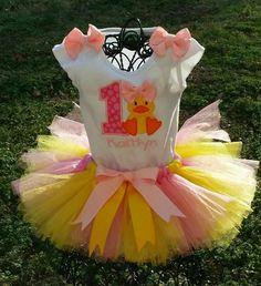 Little Duck Birthday Tutu Set Can be done by JuliesTutuCreations, $50.00