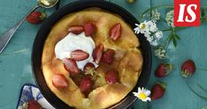 Jos ei kesäaikaan aina jaksa tehdä lounasta, voi aamupalasta tehdä hieman tuhdimman. Finnish Recipes, Acai Bowl, Deserts, Pudding, Pie, Breakfast, Food, Tarte Tatin, Flan