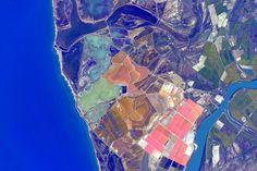 'colorful Spanish coast' - Astronaut Scott Kelly