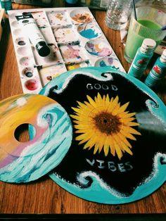 28 Best Ideas For Street Art Sculpture Lps Record Wall Art, Art Tumblr, Cd Art, Aesthetic Painting, Aesthetic Drawings, Aesthetic Collage, Ideias Diy, Piet Mondrian, Vinyl Art