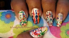 Holi Special : Paint Splattered Mash-Up Nails (5 Different Designs)