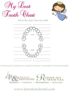 Baby Tooth Chart PDF Printable | Kids | Pinterest | Track, Sweet ...
