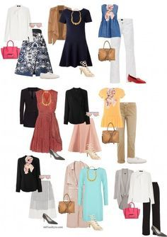 A capsule wardrobe for the apple body shape | 40+ Style - How to look and feel great over 40! | Bloglovin'