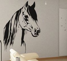 Horse 2 - uBer Decals Wall Decal Vinyl Decor Art Sticker Removable Mural Modern A359
