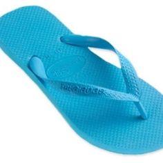 98c697db16dc0b Blue Haviana Flip Flops blue flip flops. these were only worn a handful of  times