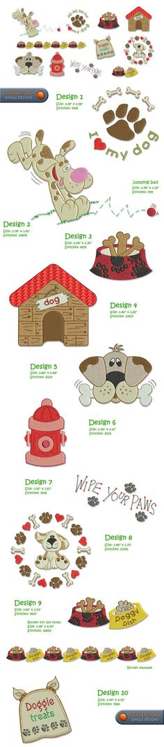 DOG Embroidery Designs Free Embroidery Design Patterns Applique