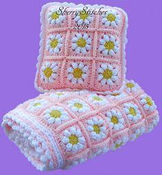 Daisy Blanket and cushion
