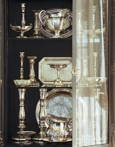 Antique silver displ