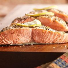 A rub of Grill Mates® Montreal Steak Seasoning, lemon peel and dill weed provides delicious flavor for salmon on the grill.
