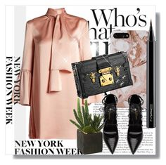 """NYFW"" by dianagrigoryan ❤ liked on Polyvore featuring Fendi, Yves Saint Laurent, Louis Vuitton, MAC Cosmetics and NYFW"