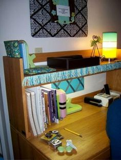 a great desk is both organized and ornamental robin mcdonald dorm room deskcollege dorm roomscollege organizationorganizing ideascollege - Dorm Room Desk Ideas
