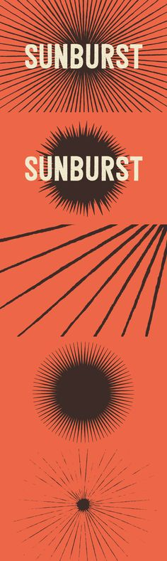 Sunbursts by Hand - Graphics - YouWorkForThem