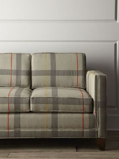Go All In With This Bold Wide Check Sofa (perfect For A Man Cave
