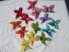 Anleitung für Schmetterlinge aus Märchenwolle
