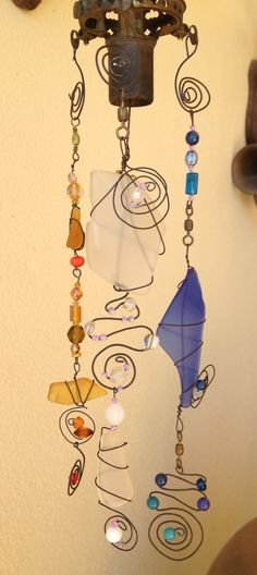 Another sea glass mobile by Claire.