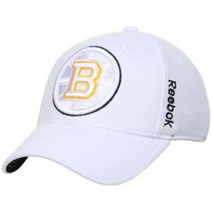 ace6cd1afba Adult Boston Bruins Reebok Center Ice White Tonal Flex Fit Hat Hockey