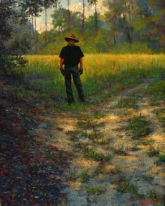 Ron Griswold - Self-Portrait at Moccasin Creek- Oil - Painting entry - May 2015 | BoldBrush Painting Competition