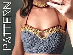 Crochet bralette pattern crochet top pattern Bralette Top