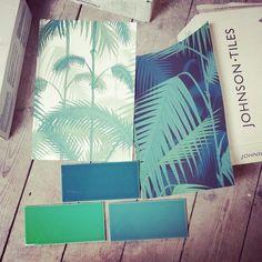 Jungle Bathroom cole and son #palmleaves #junglevibe #clubtropicana Palm Jungle wallpaper