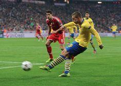 Bayern Munich 1 Arsenal 1 - Poldi gets our equaliser!