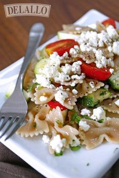 Whole Wheat Bowtie Pasta Salad #recipe