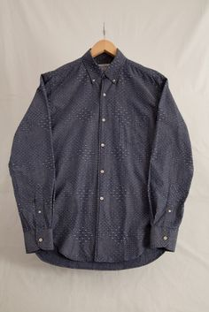 Our Legacy 1950s Quilted Dot Chambray Shirt
