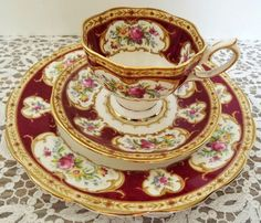 Vintage Royal Albert  Lady Hamilton  3piece Set by NostalgicRose, $60.00