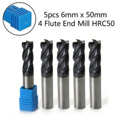 Coat End Mills 4-Flute For Wood Shank CNC Bits Professional 6mm New Hot 1Pcs