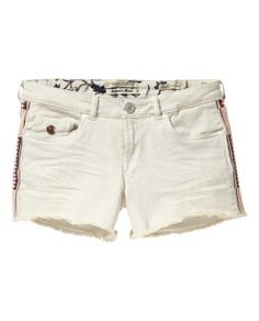 Denim shorts with embroidery | Denim Shorts | Woman Clothing at Scotch & Soda
