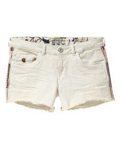 Denim shorts with embroidery | Denim Shorts | Woman Clothing at Scotch & Soda