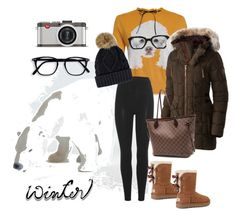 """""""Bearly warm enough"""" by saint-germain on Polyvore featuring Royal Copenhagen, adidas Originals, UGG, SOREL, Louis Vuitton and Leica"""