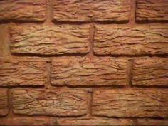 Декор стен под камень оттиском 14х5 см - YouTube