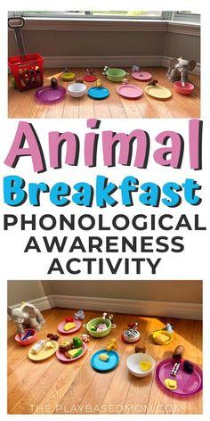 Fun Phonemic Awareness Activity: Animal Breakfast