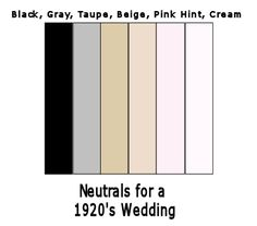 Great Gatsby - 1920's Wedding Color Schemes