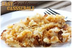 Easy Hashbrown Casserole {with NO Cream Soup!}
