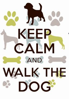 keep calm and walk the dog / created with Keep Calm and Carry On for iOS #keepcalm #walkthedog